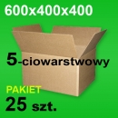 Karton 600x400x400 5w P-25 szt.