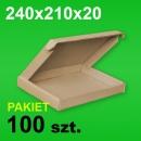 Pudełko F427 240x210x20 P-100 szt.