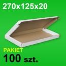Pudełko F427 270x125x20 białe P-100 szt.