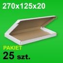 Pudełko F427 270x125x20 białe P-25 szt.