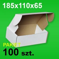 Pudełko F427 185x110x65 białe P-100 szt.