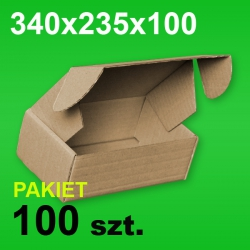 Pudełko F427 340x235x100 P-100 szt.