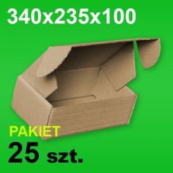 Pudełko F427 340x235x100 P-25 szt.