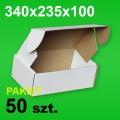 Pudełko F427 340x235x100 białe P-50 szt.