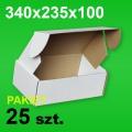 Pudełko F427 340x235x100 białe P-25 szt.