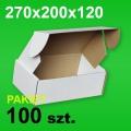 Pudełko F427 270x200x120 białe P-100 szt.