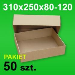 Pudełko wieczkowe 310x250x80-120 P-50 szt.