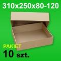 Pudełko wieczkowe 310x250x80-120 P-10 szt.