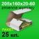 Pudełko Multibox 205x160x60 białe P-25 szt.