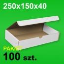 Pudełko F421 250x150x40 białe P-100 szt.