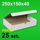 Pudełko F421 250x150x40 białe P-25 szt.