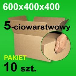 Karton 600x400x400 5w z uchwytami P-10 szt.