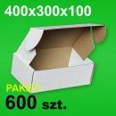 Pudełko F427 400x300x100 białe P-600 szt.