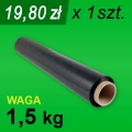 Folia stretch czarna 1,5 kg - 1 szt.