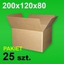 Karton 200x120x80 P-25 szt. 9,00 zł